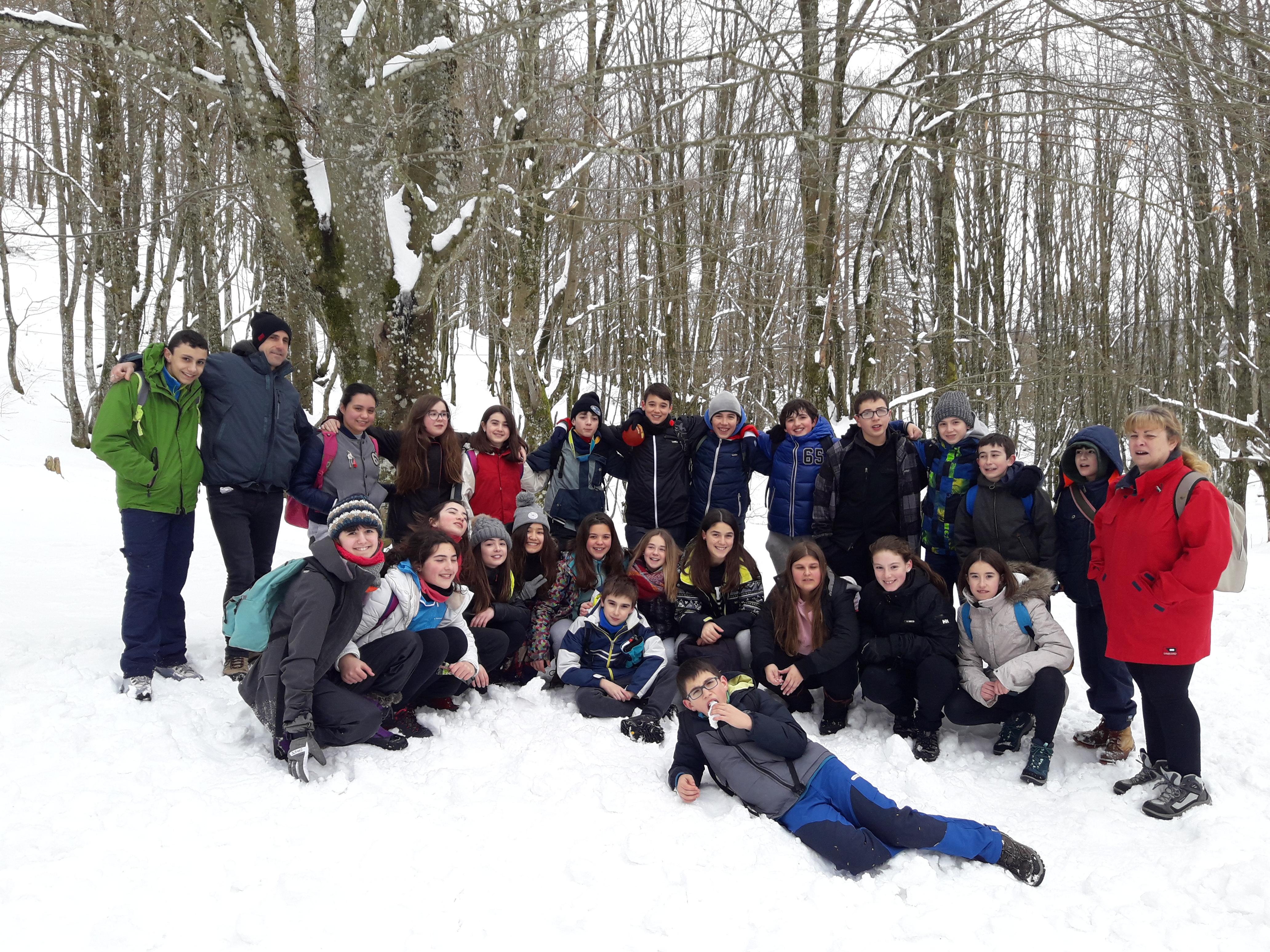 Salida a Arantzazu de los alumnos de 1º de ESO
