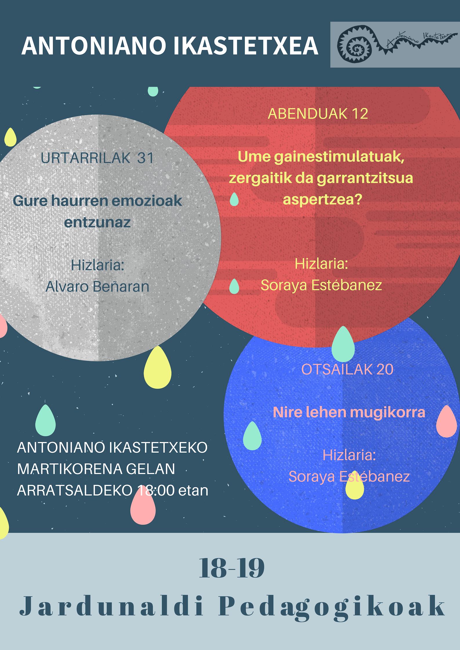 JARDUNALDI PEDAGOGIKOAK 2018-2019